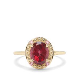 Umba River Garnet & Pink Tourmaline 9K Gold Ring ATGW 2.28cts