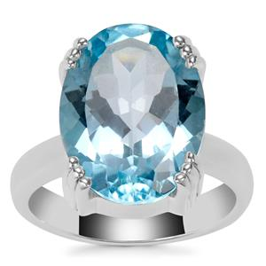 Sky Blue Topaz Ring in Sterling Silver 11.50cts