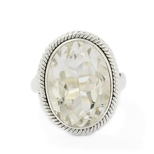 10.58ct White Quartz Sterling Silver Aryonna Ring