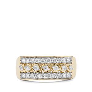 1/2ct Argyle Diamond 10K Gold Tomas Rae Ring