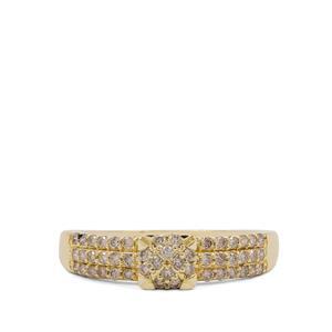 Argyle Diamond Ring in 9K Gold 0.51ct