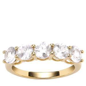 Ratanakiri Zircon Ring in 10K Gold 2.95cts
