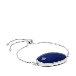 43.64ct Sar-i-Sang Lapis Lazuli Sterling Silver Slider Bracelet