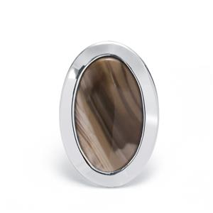 13.50ct Cappuccino Flint Sterling Silver Ring