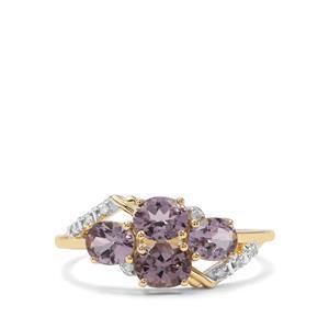 Mahenge Purple Spinel & Diamond 9K Gold Ring ATGW 1.43cts