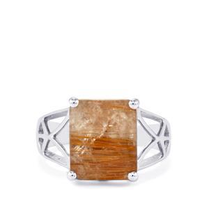 5.56ct Bahia Rutilite Sterling Silver Ring