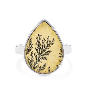 9ct Manganese Dendrite Sterling Silver Aryonna Ring