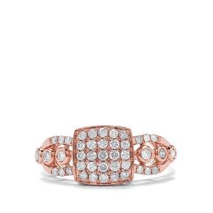 1/2ct Pink Diamond 18K Rose Gold Tomas Rae Ring