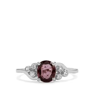 Burmese Multi-Colour Spinel & White Zircon Sterling Silver Ring ATGW 0.96cts