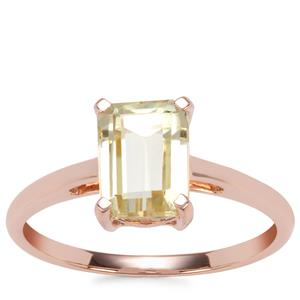 Canary Kunzite Ring in 9K Rose Gold 2.15cts