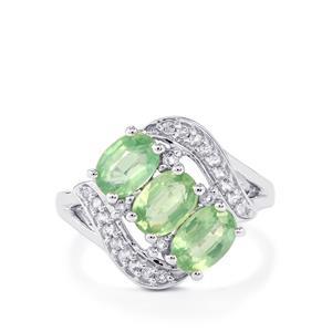 Odisha Kyanite & White Topaz Sterling Silver Ring ATGW 2.81cts