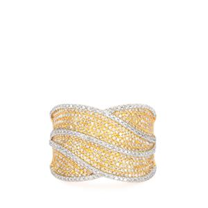 Diamond Ring  in Gold Plated Sterling Silver 1.01cts