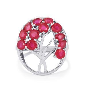 3.86ct Malagasy Ruby Sterling Silver Ring (F)