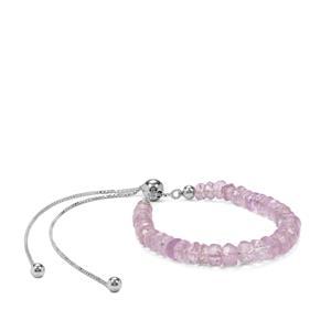 14ct Rose De France Amethyst Sterling Silver Slider Bracelet