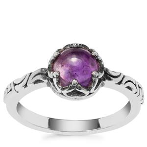 Kenyan Amethyst Ring in Sterling Silver 1.40cts