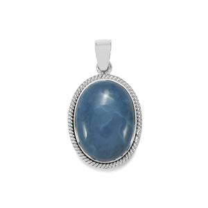 Bengal Blue Opal Pendant in Sterling Silver 13.81cts