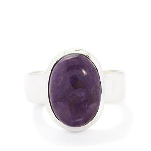 5.67ct Charoite Sterling Silver Aryonna Ring