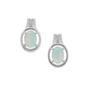 Gem-Jelly™ Aquaprase™ Earrings with Green Sapphire in Sterling Silver 1.65cts