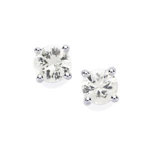 Singida Tanzanian Zircon Earrings in Sterling Silver 1.79cts