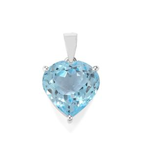Sky Blue Topaz Pendant in Sterling Silver 12.64cts