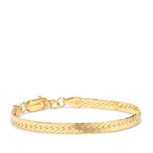 "7"" Midas Altro Diamond Cut Herringbone Bracelet 6g"