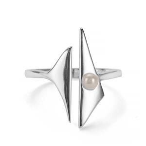 Kaori Cultured Pearl Sterling Silver Rosie Loves Ring (3mm)