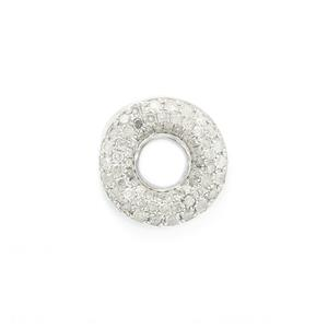 1/3ct Diamond 9K White Gold Pendant
