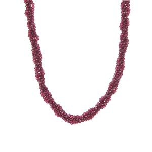 Tocantine Garnet Necklace in Sterling Silver 167.60cts