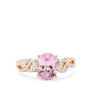 Mawi Kunzite Ring with Diamond in 18K Rose Gold 2.72cts