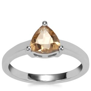 Bolivian Natural Champagne Quartz Ring in Sterling Silver 1.09cts