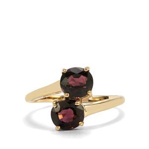 2.05ct Burmese Multi-Colour Spinel 10K Gold Ring