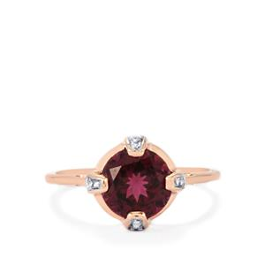 Umbalite Ring with Diamond in 9K Rose Gold 2.56cts
