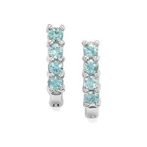 0.80ct Ratanakiri Blue Zircon Sterling Silver Earrings