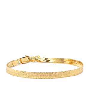 "7"" Midas Altro Diamond Cut Herringbone Bracelet 3.81g"