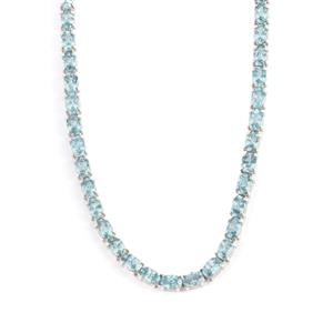 Ratanakiri Blue Zircon Necklace in Sterling Silver 45.85cts