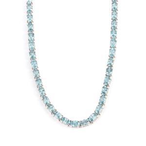 45.85ct Ratanakiri Blue Zircon Sterling Silver Necklace