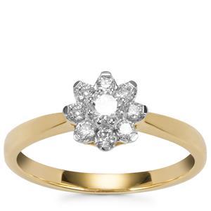 Diamond Ring in 10K Gold 0.35ct