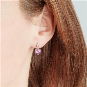 Minas Gerais Topaz Wobito Snowflake Earrings with Diamond in 9K White Gold 3.14cts