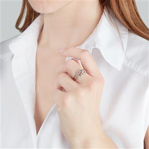 1/8ct Diamond 10K White Gold Set of 3 Stacker Rings