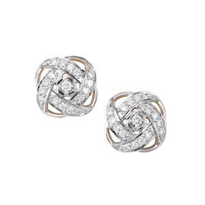 1/2ct Argyle Diamond 10K Gold Tomas Rae Earrings
