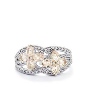 1.16ct Zambezia Morganite Sterling Silver Ring
