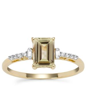 Csarite® Ring with White Zircon in 9K Gold 1.32cts