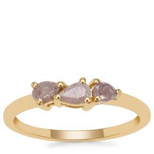 Purple Diamond Ring in 18K Gold 0.47ct