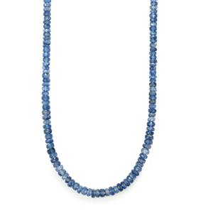 75ct Daha Kyanite Sterling Silver Graduated Bead Necklace