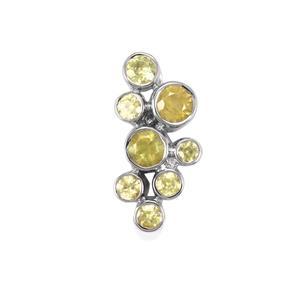 Ambilobe Sphene Pendant in Sterling Silver 1.56cts
