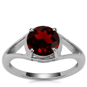 Rajasthan Garnet Ring in Sterling Silver 2.25cts