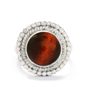 5.31ct Red Tigers Eye Sterling Silver Aryonna Ring
