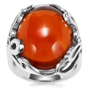 American Fire Opal Ring in Sterling Silver 12.91cts