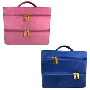 Velvet Vanity Case - 1=Blue / 2=Pink