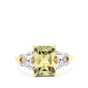 Csarite® & Diamond 18K Gold Lorique Ring MTGW 3.68cts